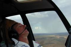 Australia Martin Rutty asleep in cockpit