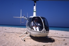 Egypt Beach R44 Tim Gilbert at Controls