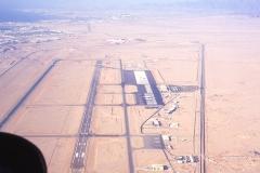 Jordan Aqaba Airport approach cockpit view R44